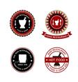 Thai restaurant labels vector