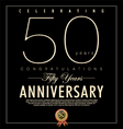 50 years anniversary black background vector