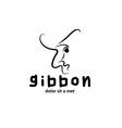 Gibbon outline vector
