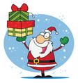Jolly christmas santa vector