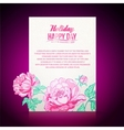 Card background from peonies vector