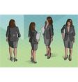 Isometric woman secretary standing vector