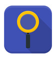 Magnifying glass app icon with long shadow vector