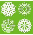 Paper cut snowflakes vector