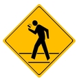 Road sign crosswalk vector
