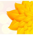 Autumn background with yellow foliage vector