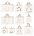 Eco recycle bag collection vector