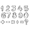 Different numerical figures vector