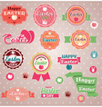 Collection of vintage retro easter labels stickers vector