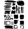 Grunge set of paint stains grungy decoration vector