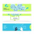Set of horizontal banners headers editable design vector