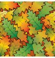 Oak leaf abstract background seamless vector