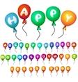 Balloons alphabet vector