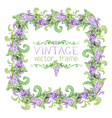 Grapes square frame vector