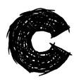 C - hand drawn character sketch font vector
