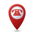 Phone icon red pointer vector