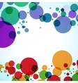 Background design of large colored balls vector