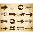 Set of vintage arrows vector