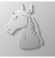 Paper horse head vector