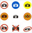 No photo icons set vector