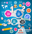 Four steps modern infographics layout with vector