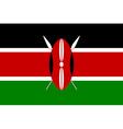 Flag of kenya vector