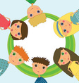 Frame with cute kids vector