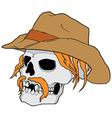 Cowboy skull vector