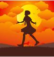 Girl running vector