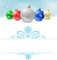 Christmas balls snow pattern380 vector