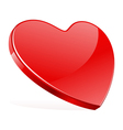 Red shiny heart shape vector