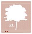Tree bird background vector