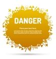 Danger sign set in cloud banner vector