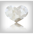 Heart of triangles vector