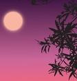 Silhouette plant vector