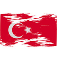 Flag of turkey with old texture vector