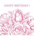 Luxury rose card vector