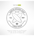 Surfing company label logo made in modern vintage vector