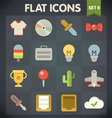 Universal flat icons for applications set 8 vector