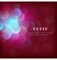 Abstract festive background with bokeh vector