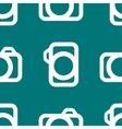 Camera web icon flat design seamless pattern vector