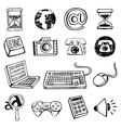 Doodle icon set vector