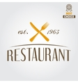 Logo or badge for restaurant cafe and bar vector