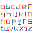 Colorful lower case alphabet vector