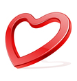 Red shiny glass heart shape vector