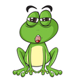Suspicious cartoon frog vector
