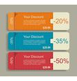 Vintage labels template set sale discount theme vector