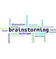 Word cloud brainstorming vector