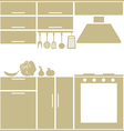 Kitchen silhouette vector