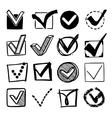 Check boxes set vector